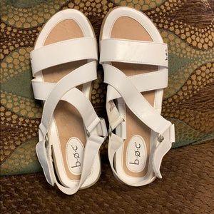 BOC white Sandles  size 9
